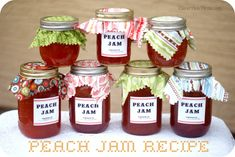 Peach Jam Recipe & Jar Printables