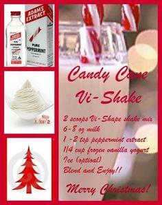 candy cane, shake, body by vi, milk