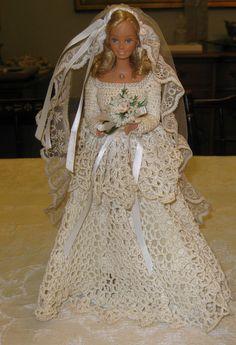 Vintage Mattel 1966 Barbie w/Crocheted Wedding Gown - SUPERB !