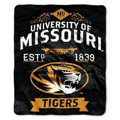 Missouri Tigers Blanket 50x60 Raschel Label Design Z157-8791821926