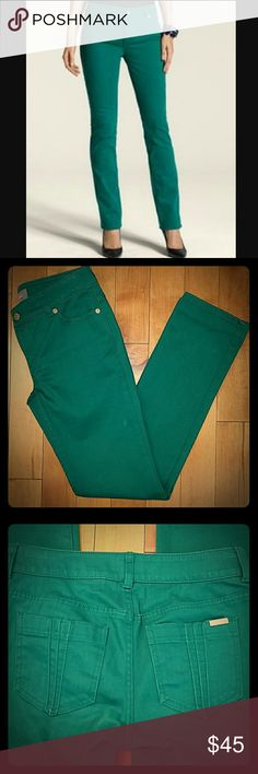 "NWT Chico's So Slimming Jeans NWT Chico's So Slimming Jeans Pintuck Slim Leg Rainforest Green Perfect for St. Patrick's Day!! Size 00 (2) 31.5"" inseam  15"" across waistband  74% cotton,  12% rayon, 12% polyester,  2% spandex Chico's Jeans Straight Leg"