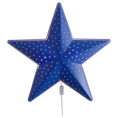Ikea Star Wall Lamp Blue Children's Lighting: Casts a soft light. Suitable for use with an energy-saving bulb, which produces very little heat. Made by Ikea. Ikea Kids, Star Nursery, Nursery Wall Decor, Ikea Wall Lamp, Wall Lamps, Lamp Light, Mood Light, Light Bulb, Decoration Home
