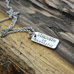Strength Is Beautiful Necklace