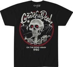CBGB NYC Club Electric Skull Since 1973 Adult Black Back Work Shirt Tee