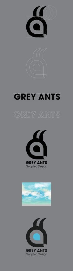 Logo system is starting with the first face, lol. #logodesign #greyants #design