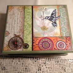 Discover thousands of images about caja decoupage Decoupage Vintage, Decoupage Box, Cigar Box Crafts, Altered Cigar Boxes, Moonlight Painting, Creative Box, Tea Box, Vintage Country, Box Art