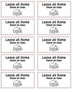 printables for homework folders Time 4 Kindergarten: Homework Folder Labels Homework Folder Labels, Kindergarten Homework Folder, Bilingual Kindergarten, Bilingual Classroom, Classroom Labels, Classroom Language, Kindergarten Teachers, Classroom Organization, Classroom Management