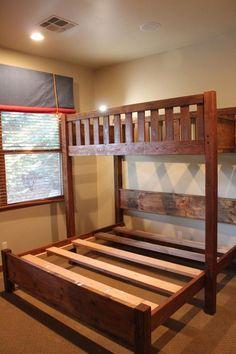 Unique Bunk Beds, Full Size Bunk Beds, Low Bunk Beds, Kids Bunk Beds, House Bunk Bed, Cabana, Bunk Rooms, Bunk Bed Designs, Beach Cottages