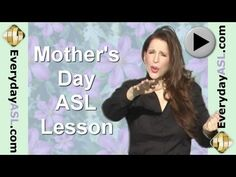ASL signs relating to Mother's Day