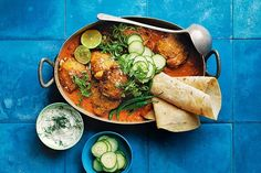 One-pot butter chicken with dill yoghurt