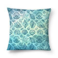 Almofada Blue Seashells do Studio Vickn