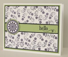Card idea for black and white paper with a splash of color - Hello card Cool Cards, Diy Cards, Cardmaking And Papercraft, Get Well Cards, Card Making Inspiration, Pretty Cards, Scrapbook Cards, Scrapbooking, Greeting Cards Handmade