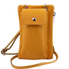 Outside mobile phone holder This italian mini crossbody bag fits a 5.5'' smartphone Soft structure Zip pocket on the back side Inside part 1 compartment - € 43,99