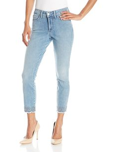 NYDJ Women's Clarissa Ankle Jeans with Embroidered Scallop Hem *** Check out this great product.