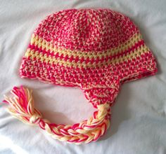 Crochet baby earflap beanie by EnglishHouseCrafts on Etsy, $12.00
