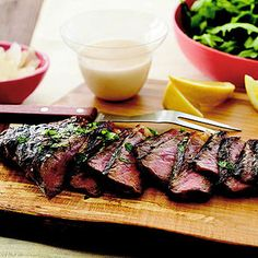 Strip Steak with Garlic and Parsley Marinade - easy and healthy