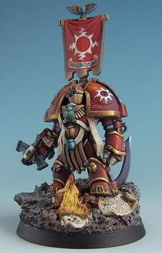 CoolMiniOrNot - Pre-Heresy Terminator Marine by QiaoZhong Warhammer 40k Figures, Warhammer Models, Warhammer 40k Miniatures, Warhammer 40000, Eternal Crusade, Chaos Legion, Miniaturas Warhammer 40k, Sci Fi Miniatures, Thousand Sons