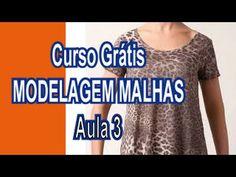 Curso Grátis - Modelagem Malhas - Aula 3 (blusas com manga)