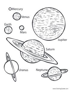 Planets Coloring Page