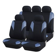 Furnistar 9-Piece Car Vehicle Protective Seat Covers 3mm Foam Backing