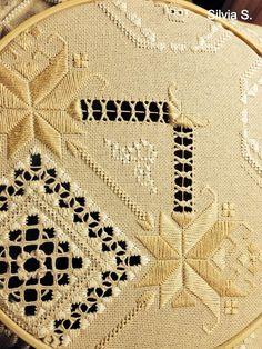 hardanger embroidery | Via Silvia Suarez