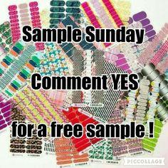 Jamberry sample Sunday x