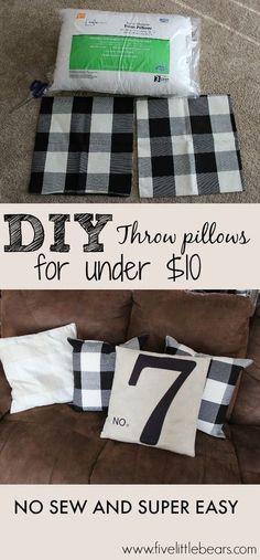 Diy Throw Pillows For Under * diy kissen für unter * * bricolage coussins pour sous * cojines de bricolaje para debajo Diy Throws, Diy Throw Pillows, Sewing Pillows, Decorative Pillows, Burlap Pillows, Throw Pillow Covers, Floor Pillows, Pillow Cases, Diy Tumblr
