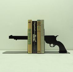 Pistol Bookends