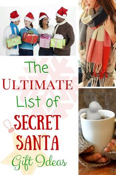 The Ultimate List of Secret Santa Gift Ideas. What a great list of small and mostly inexpensive gift ideas for lots of different personalities! These would also work perfectly as stocking stuffers! #blessedbeyondcrazy #spon #christmas