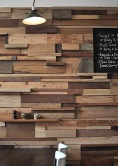 Wood wall - Slowpoke Espresso, Australia