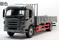 Dragon long loading truck alloy die cast model 1:24 in original silver and blue #CANIA