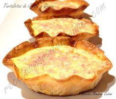 Recetas Monsieur Cuisine: Tartaletas de Jamón y Queso