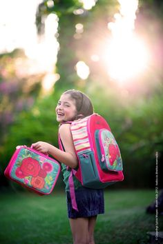 Linha de Acessórios Bloom Kids  Mochila e Lancheira Rosas www.bloomkids.com.br