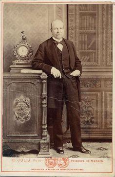 Julia, E.: retrato  caballero (quizá Campoamor), carte cabinet 1890.  Hesperus´ Collection