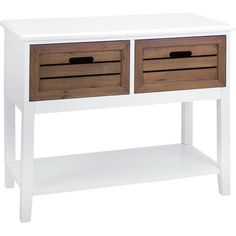 A console table isn't just an entryway essential. Top this 2-tone piece with a tray of bottles and glassware to create a chic home bar, or add baskets of rol...