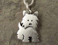 Westie necklace by StickManJewelry on Etsy