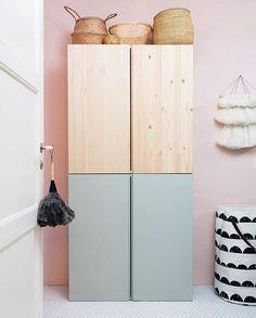 Ikea Ivar-Schrank im Kinderzimmer Ikea Ivar Cabinet, Ikea Cabinets, Small Cabinet, Diy Kids Room, Ikea Hack Kids Bedroom, Ikea Kids Room, Ikea Baby Room, Lego Bedroom, Childs Bedroom
