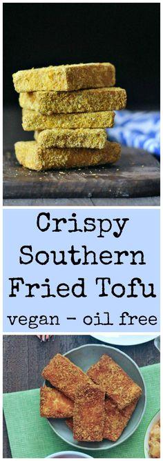 Crispy Southern Fried Tofu @spabettie #vegan