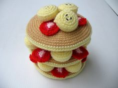 crochet pancakes #amigurumi i dont know when/why i would make these but they're so cute :)