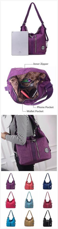 $26.99 Women Waterproof Nylon Lightweight Mutifunctional Handbag Crossbody Bag Backpack. Very mutifunctional.