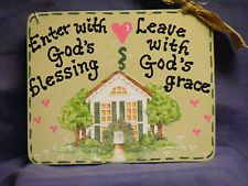 Wooden Country Home Décor Plaques & Signs House Blessing, Gods Grace, Sweet Home, Blessed, Country, Frame, Handmade, Home Decor, Picture Frame
