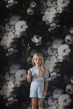 A Day by the Dark Floral: Alexandrena Parker by Kenziepoo, via Flickr. Clothes by Caramel Baby. Wallpaper by Ellie Cashman.