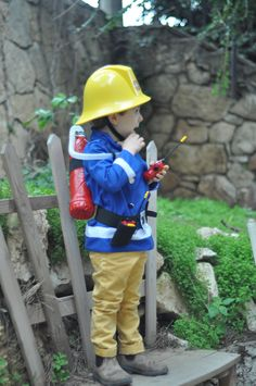 Fireman Sam costume                                                                                                                                                                                 More Fireman Birthday, Fireman Party, Leo Birthday, Fireman Sam, 2nd Birthday Parties, Purim Costumes, Kids Costumes Boys, Halloween Costumes, Firefighter Halloween