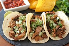 The easiest recipe for Slow Cooker Pork Carnitas ever! Tender and flavorful pieces of crispy pork that just melt in your mouth. Slow Cooker Pork, Slow Cooker Recipes, Crispy Pork, Shredded Pork, Carnitas, Pork Recipes, Dinner Ideas, Crockpot, Easy Meals