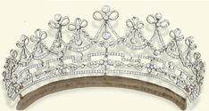 Lady Emilie Harmsworth's diamond belle epoque tiara, seen worn by her in the previous pin. The tiara dates from 1905 and was sold at Christies in 2008