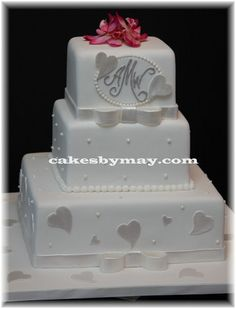 Hearts Wedding Cake