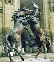 Картинки по запросу gold horse sculpture landscape