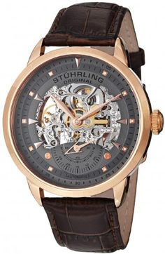 Stuhrling Original 133.3345K54 Symphony Aristocrat Executive Automatic Skeleton Watch For Men
