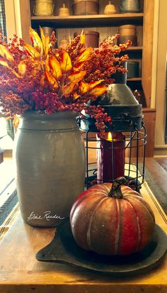 Fall Home Decor, Autumn Home, Candle Lanterns, Candles, Autumn Table, Fall Arrangements, Fall Things, Farm Houses, Autumn Inspiration