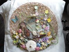 An altered placemat (Edith's creative pieces and bits)